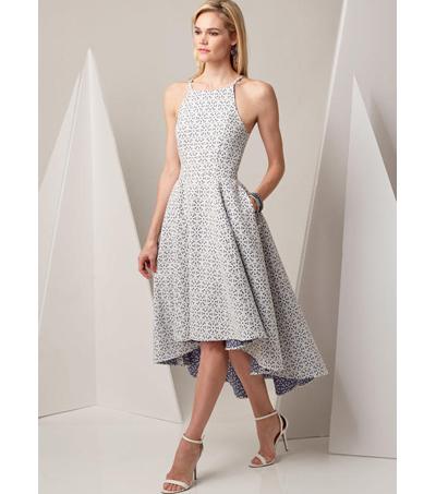 86b1724bcd8 Vogue Pattern V9252 Misses  Princess Seam High-Low Dresses-Size 6-14 ...