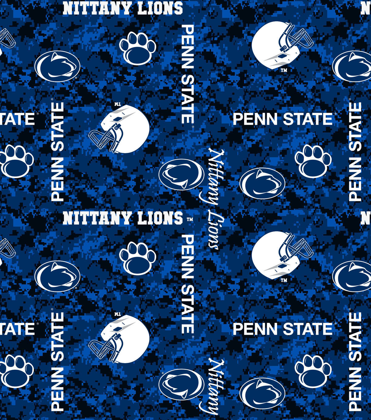Penn State University Nittany Lions Fleece Fabric -Digital