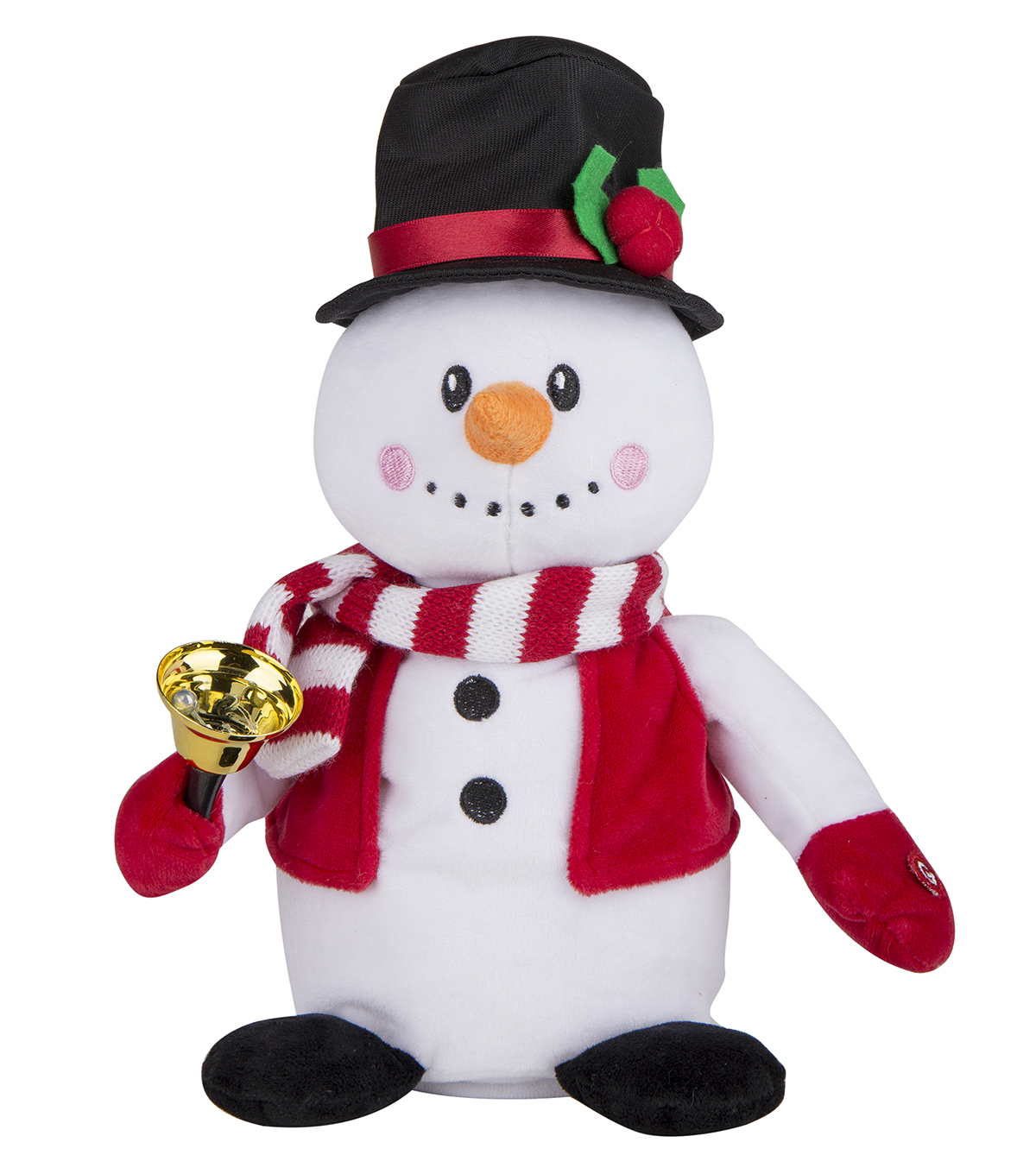 Maker\u0027s Holiday Christmas Ho Ho Ho Decor Singing Snowman Plush