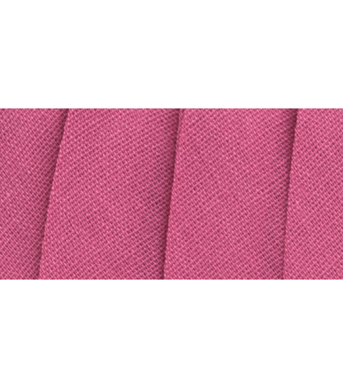 Wrights Extra Wide Double Fold Bias Tape, Fold Brite Pink