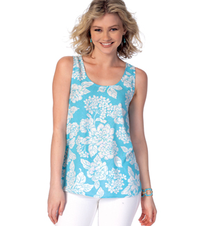 McCall\u0027s Pattern M7411 Misses\u0027 Scoopneck Tank Tops with Overlay Options