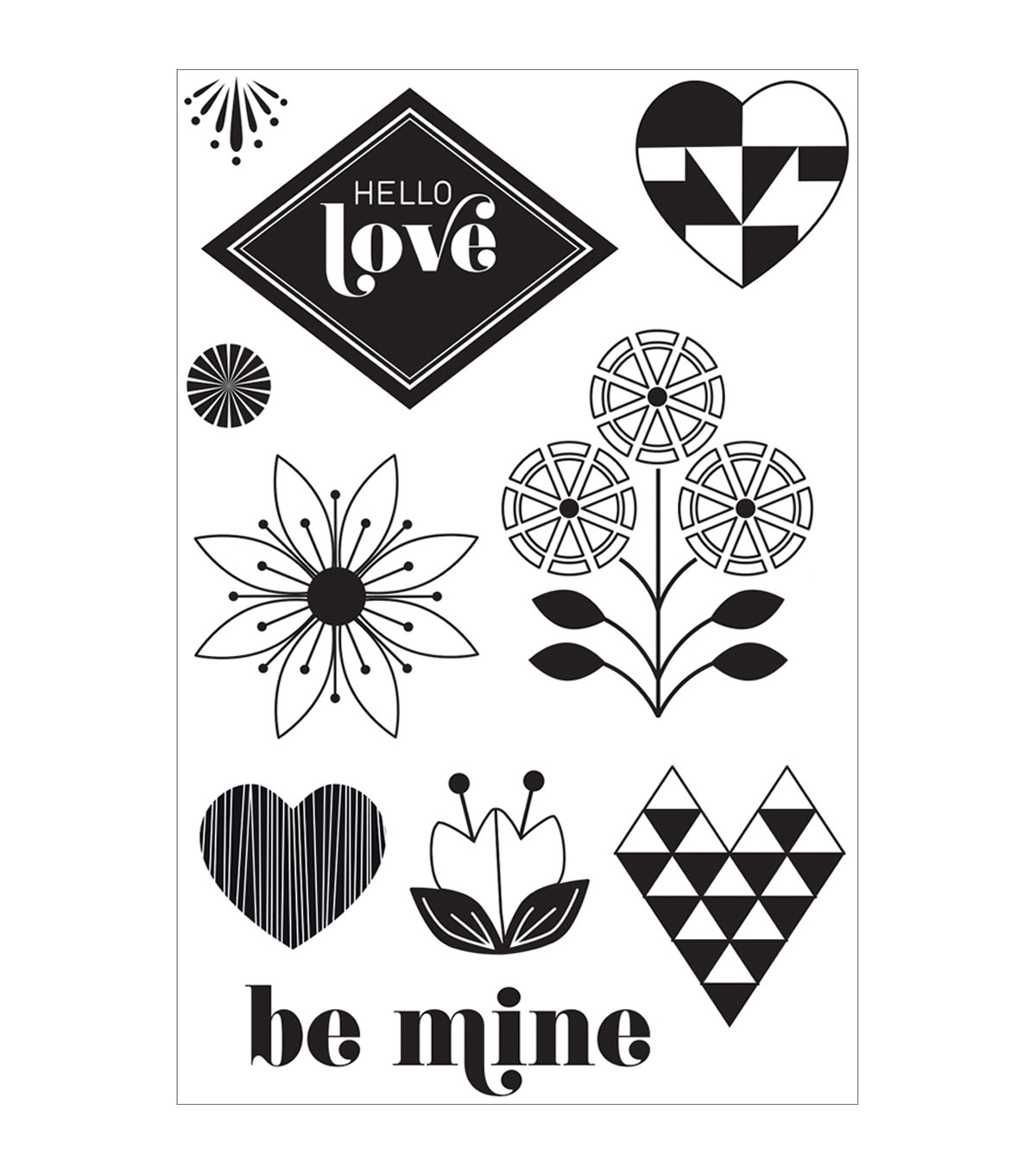 Basic Grey J\u0027Adore Clear Stamps By Hero Arts-Hello Love