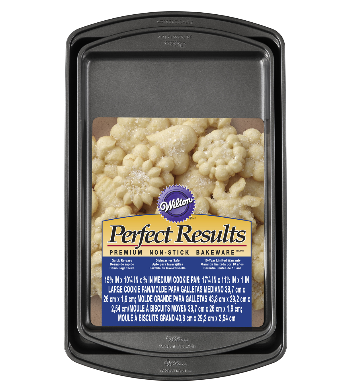 Wilton Set of 2 Perfect Results Non-Stick Cookie Sheets