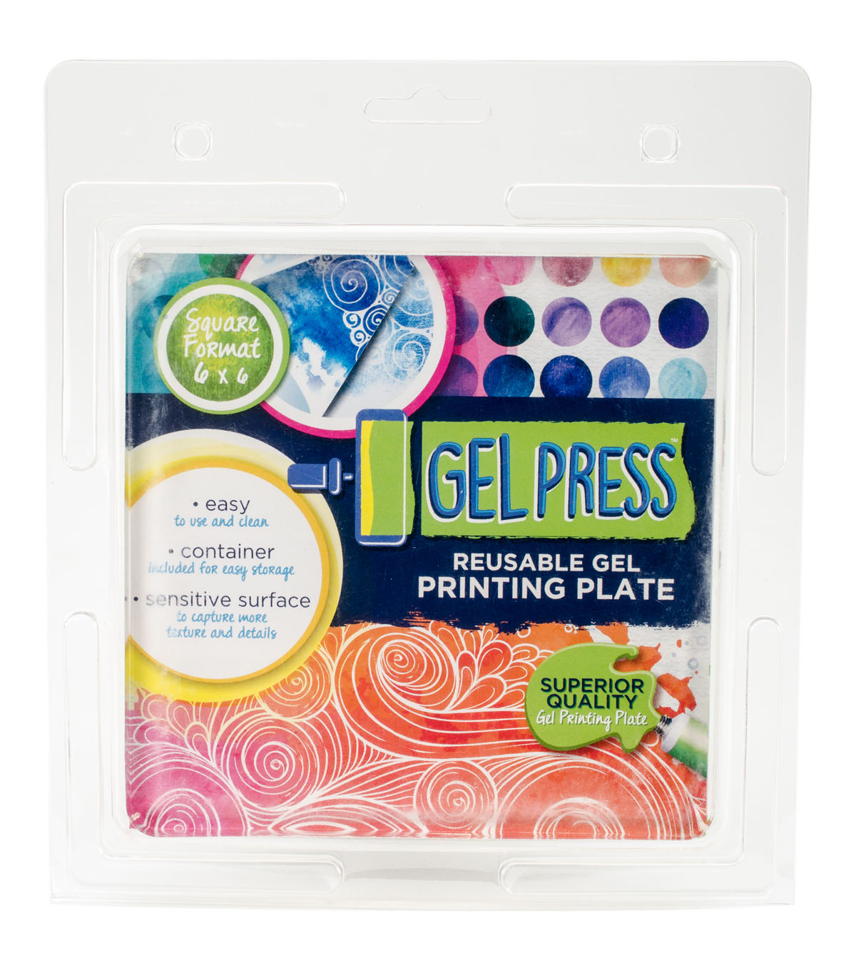 Gel Press 6\u0027\u0027x6\u0027\u0027 Square Reusable Gel Printing Plate