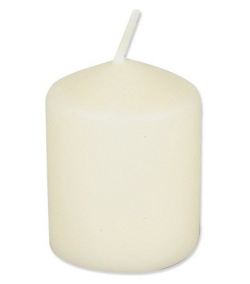 Darice Unscented 12 Hour Votive Candles, Ivory