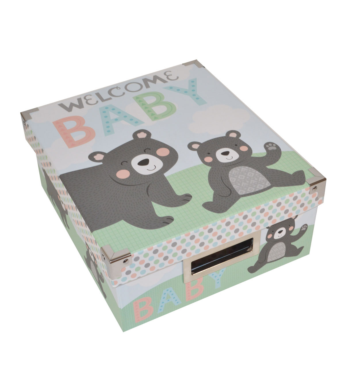 Organizing Essentials Small Storage Box-Welcome Baby Bear