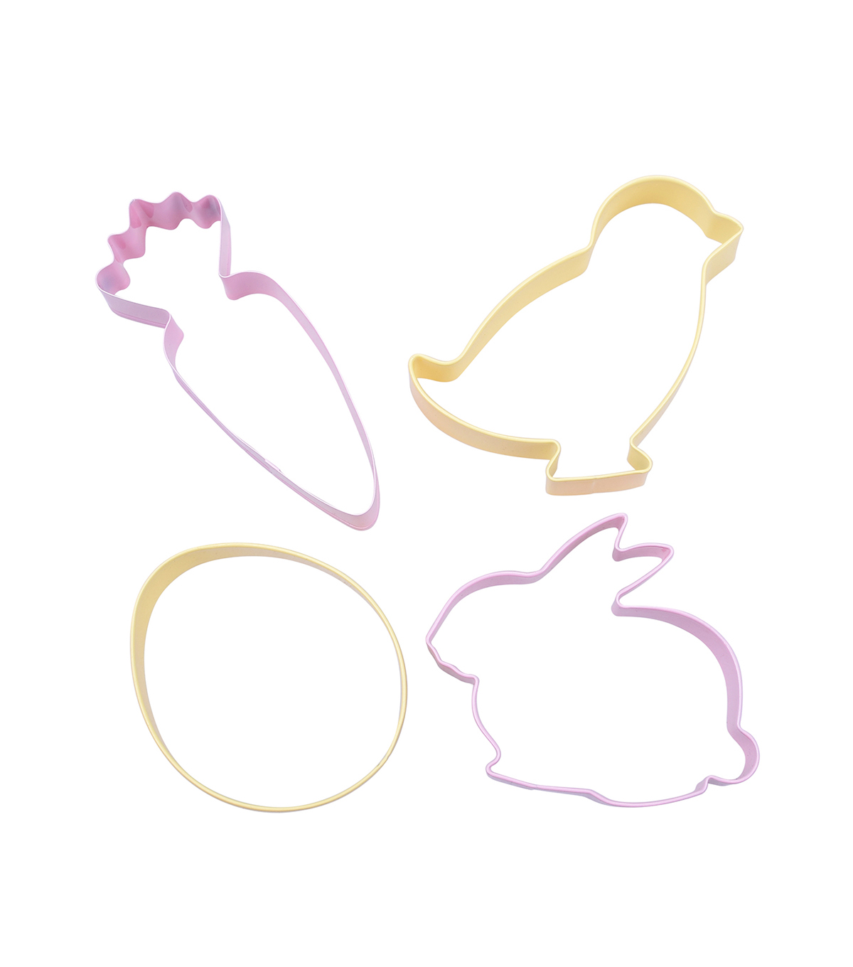 Easter Carrot, Chick, Egg & Bunny Cookie Cutters