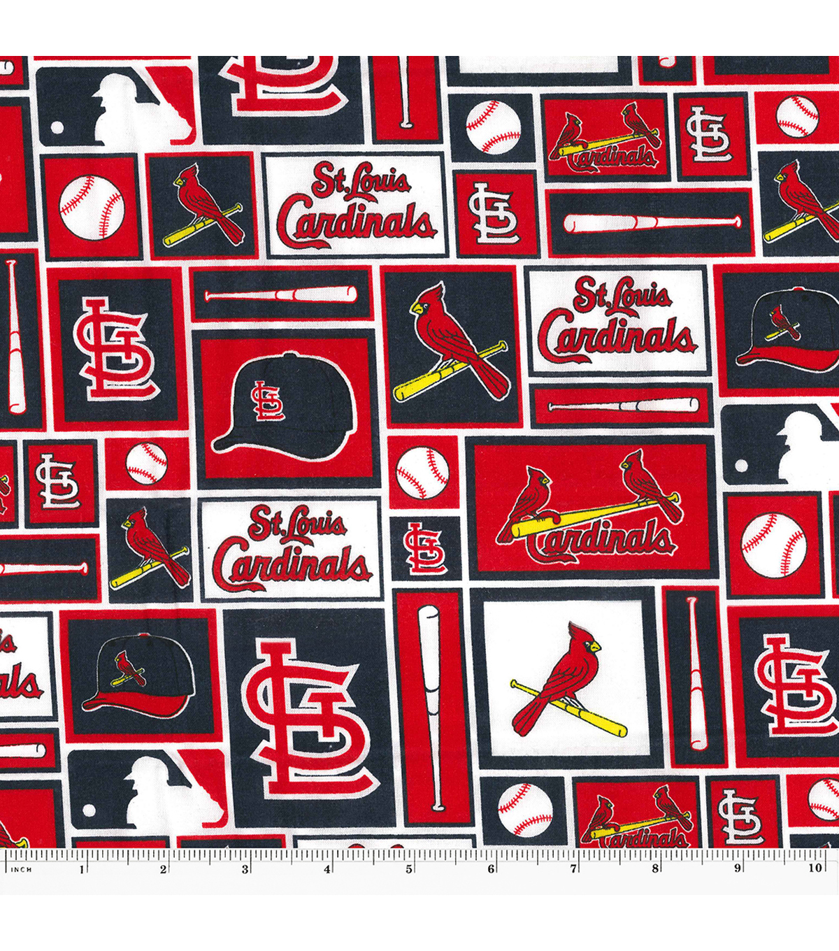 St. Louis Cardinals Cotton Fabric 58\u0022 Patch