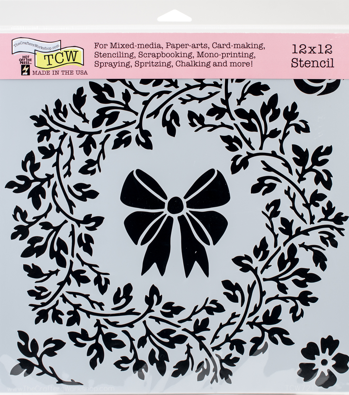 Crafter\u0027s Workshop Hot off the Press Template 12\u0027\u0027x12\u0027\u0027-Big Wreath