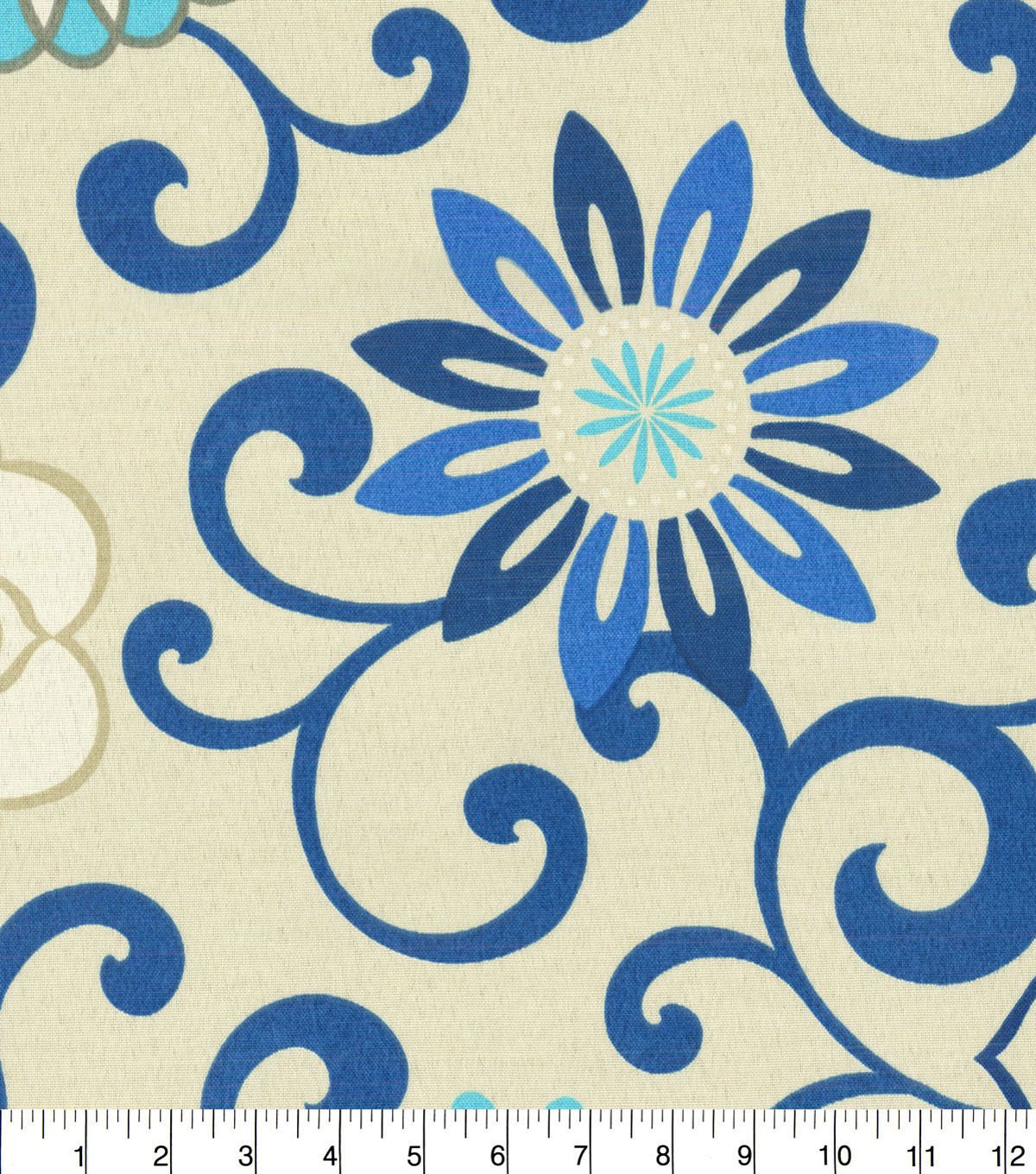 Waverly Upholstery Fabric 13x13\u0022 Swatch-Pom Pom Play Larkspur