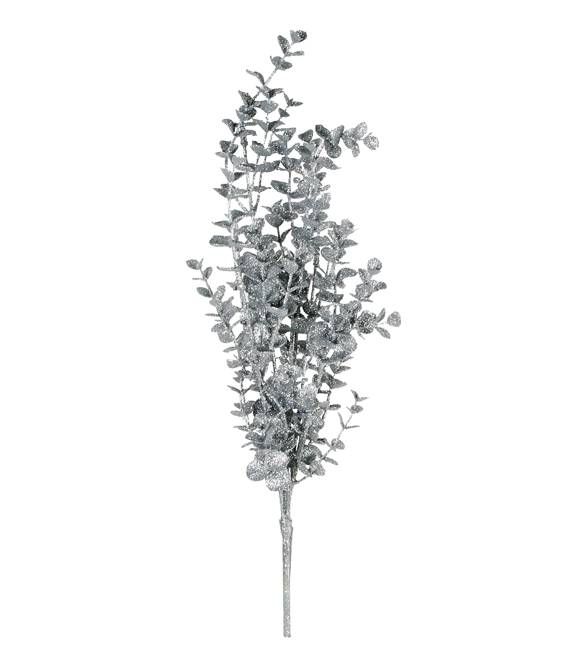 Blooming Holiday Christmas Glitter Eucalyptus Bush-Silver
