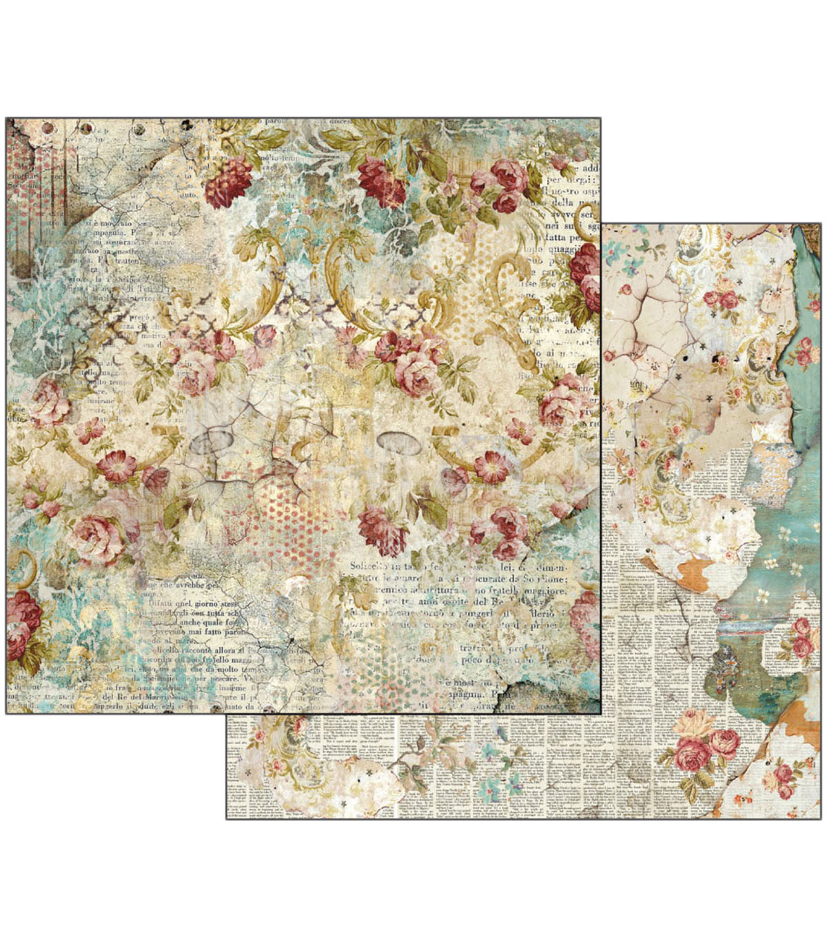 Stamperia 12\u0027\u0027x12\u0027\u0027 Double-Sided Cardstock-Time is an Illusion Floral