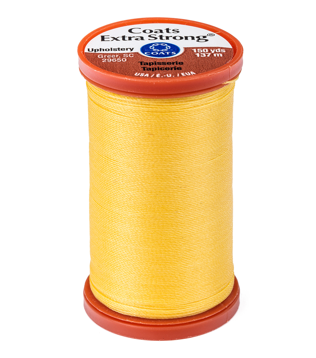 Coats & Clark Extra Strong & Upholstery Thread 150 yd , Yellow