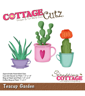 CottageCutz Die-Teacup Garden 1\u0022 To 2.3\u0022