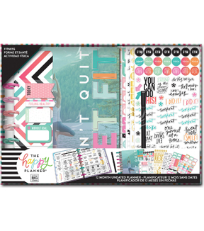 The Happy Planner 12-Month Undated Medium Box Kit-Fitness