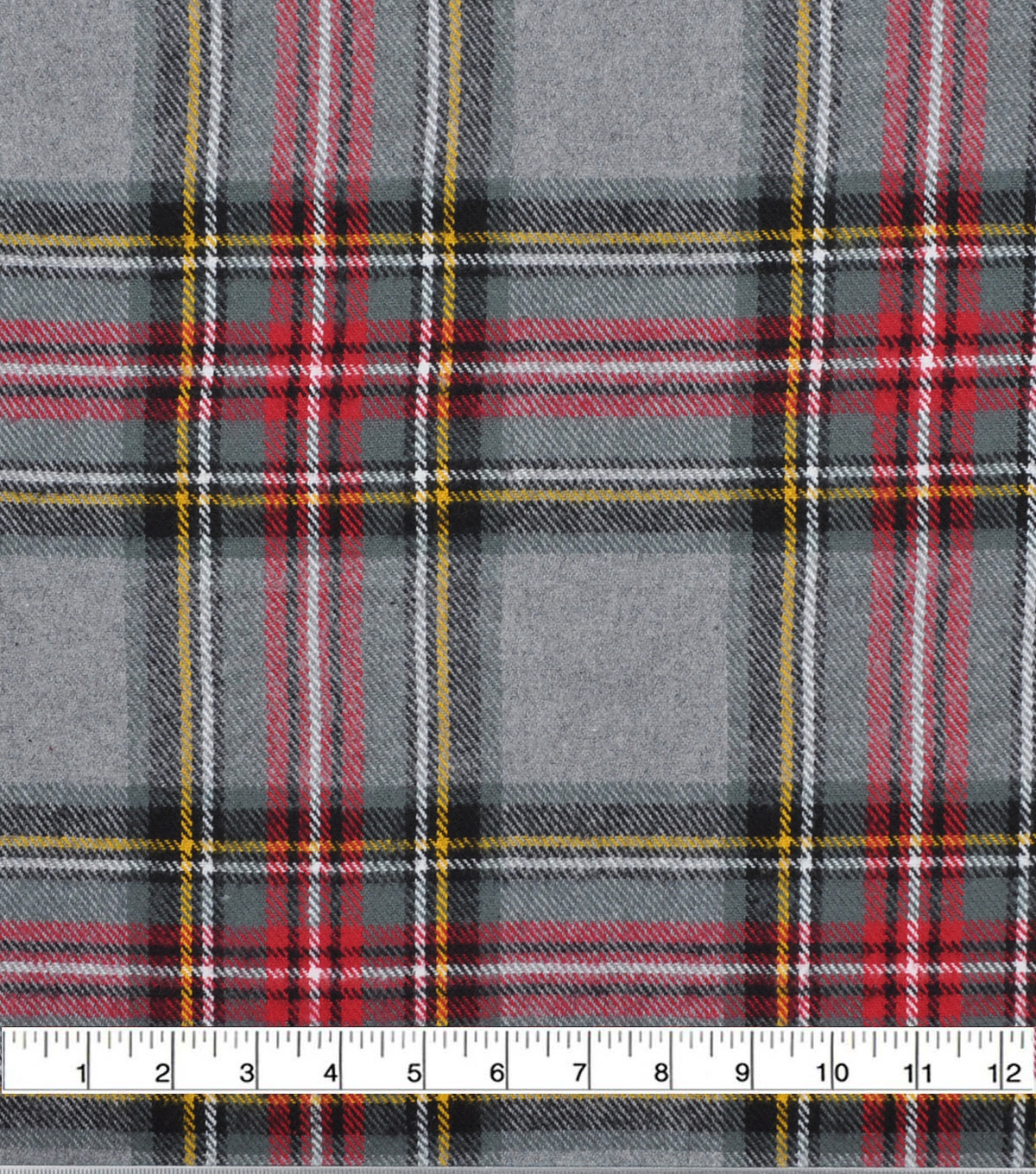 Plaiditudes Brushed Cotton Fabric-Grey Multi Tartan Plaid
