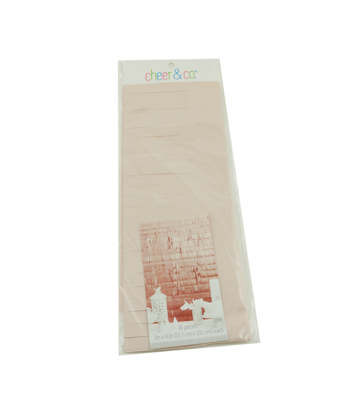 Cheer & Co. 16 pk 5\u0027\u0027x40\u0027\u0027 Party Backdrops-Pearlized Blush