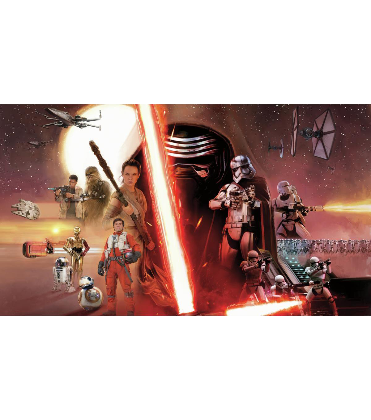 York Wallcoverings Pre Pasted Mural-Star Wars The Force Awakens