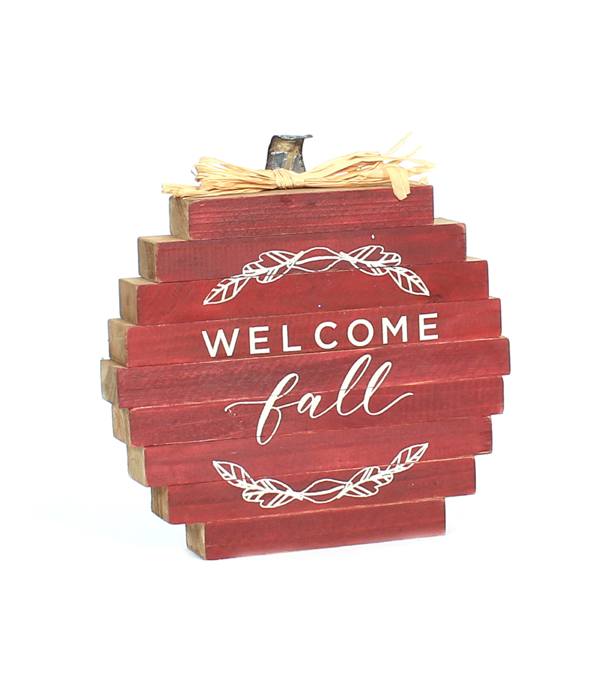Simply Autumn Pumpkin Word Block-Welcome Fall on Burgundy