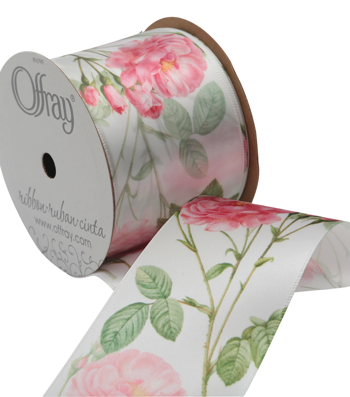 2 And One Qtr Garden 9 Ft Floral 2 Ribbon