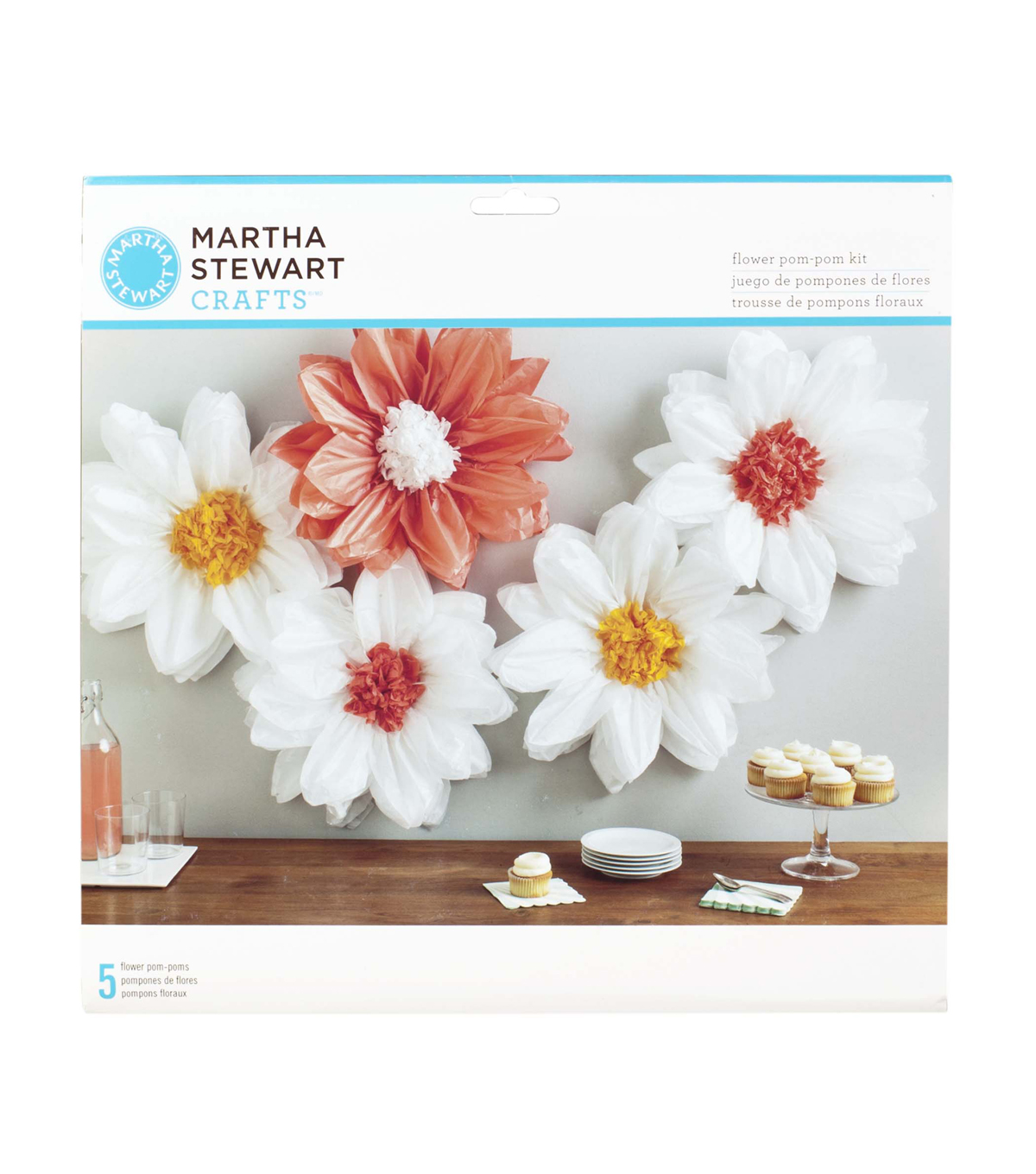 Martha stewart tissue paper flower bouquet kit ukrandiffusion martha stewart tissue paper pom pom kit daisy light joann mightylinksfo
