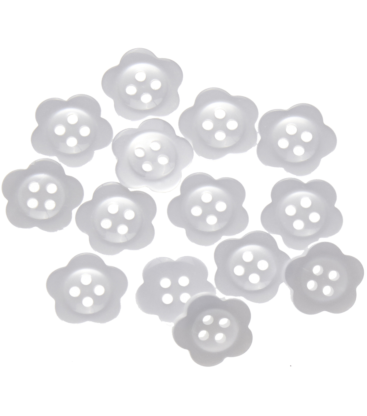 Favorite Findings 14 pk 0.63\u0027\u0027 Buttons-White Blooms