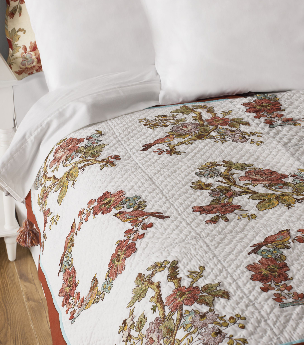 Bucilla Waverly Charleston Chirp Stamped Embroidery Quilt Blocks
