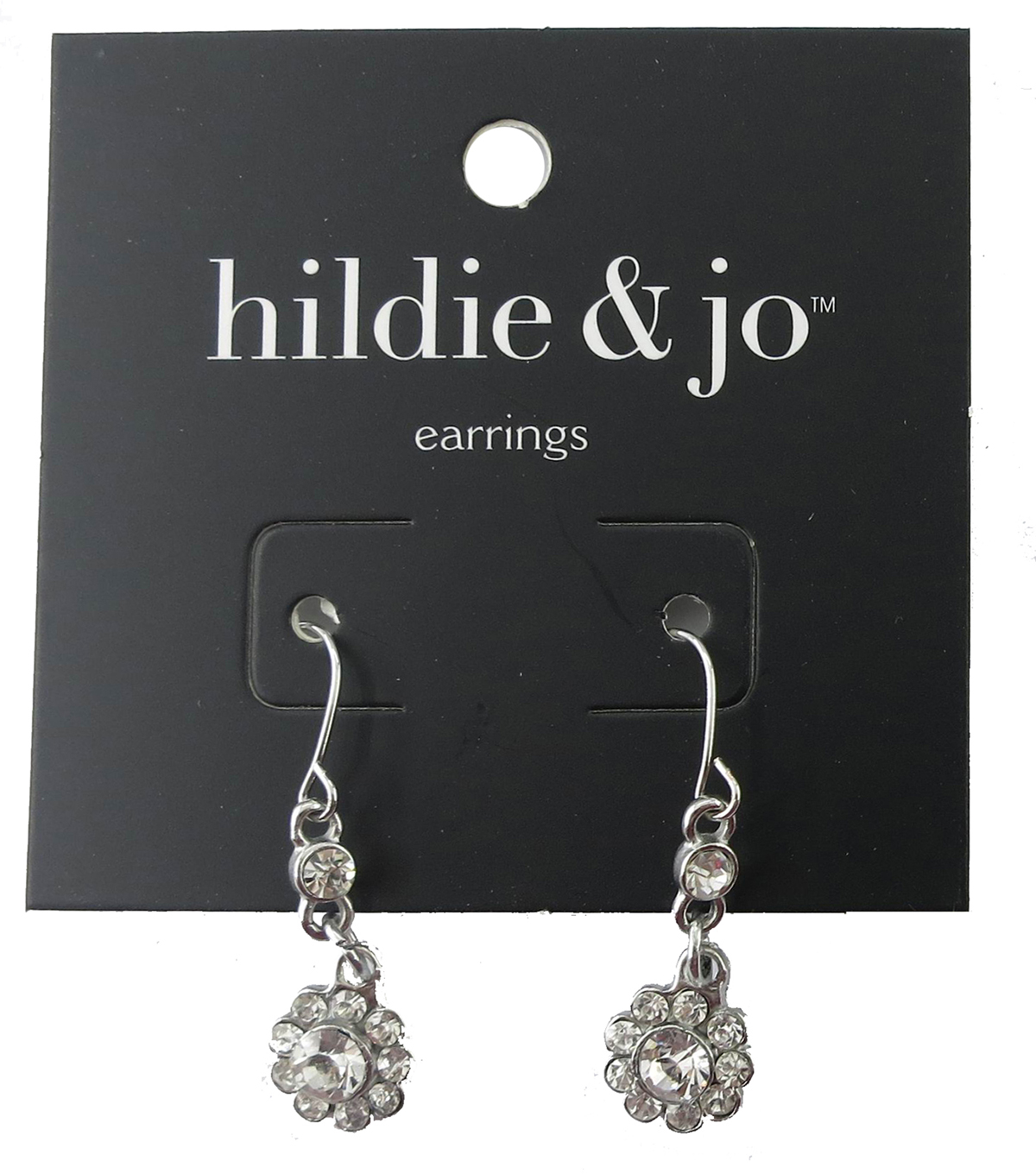 hildie & jo Flower Silver Dangle Earrings