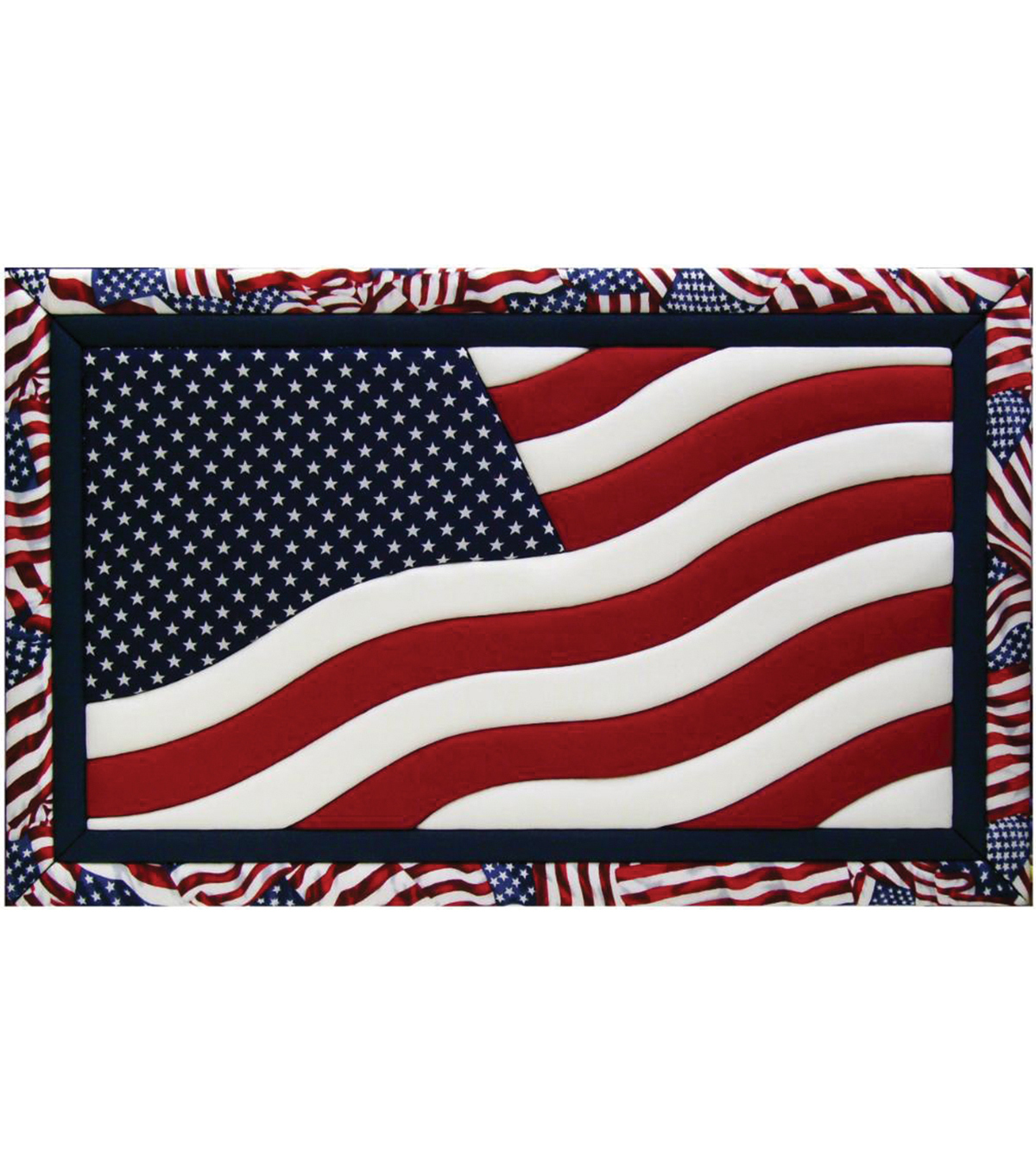 American Flag Quilt Magic Kit-12\u0022X19\u0022
