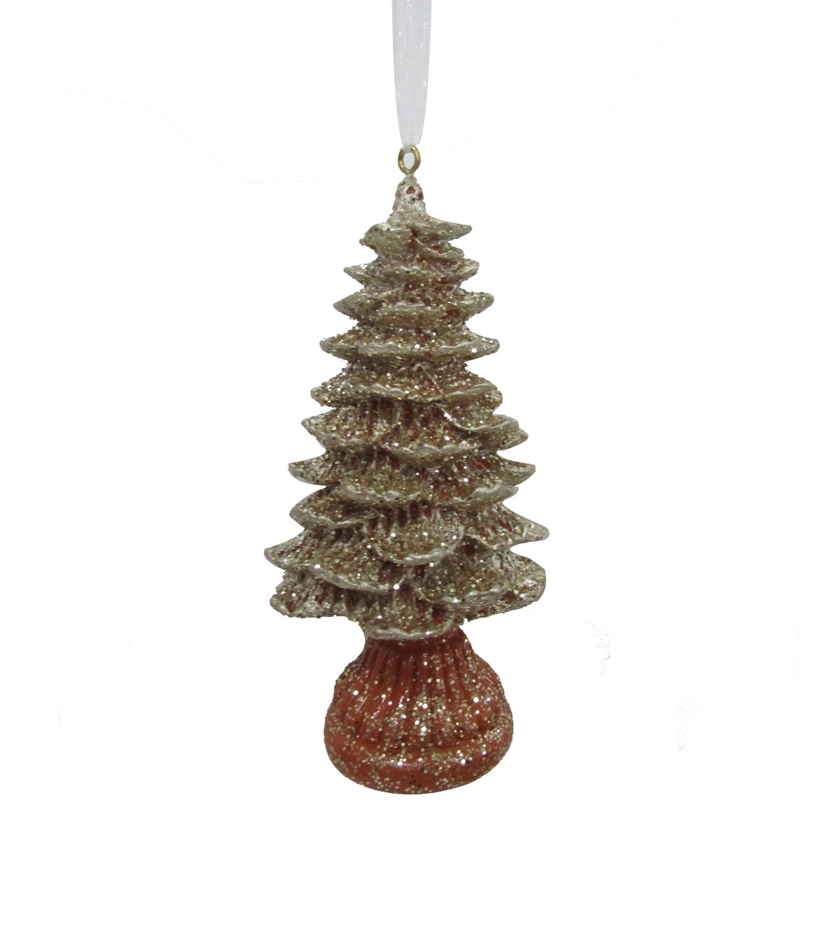 Maker\u0027s Holiday Christmas Glistening Pines Resin Tree Ornament