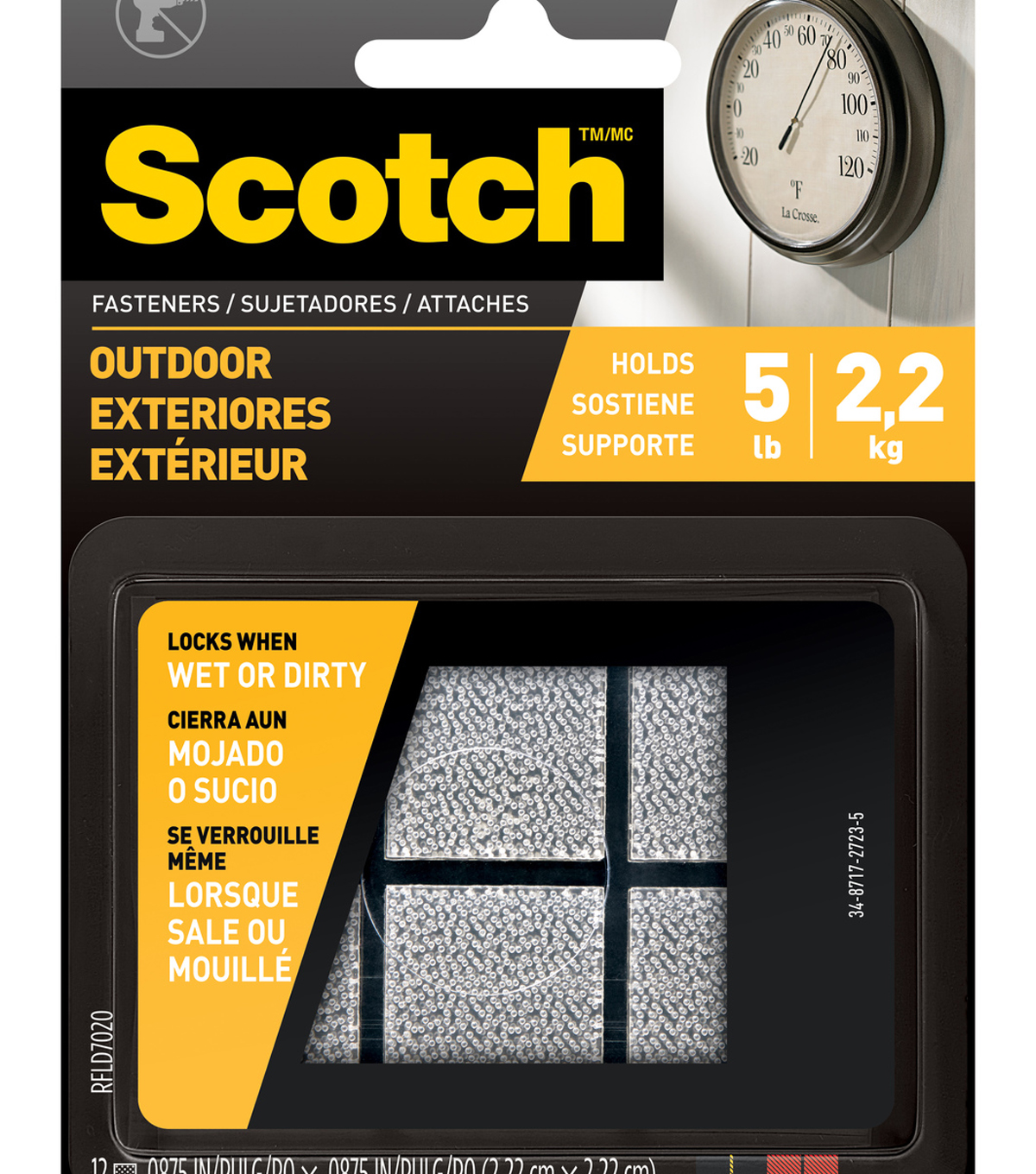 Scotch Fasteners White Outdoor
