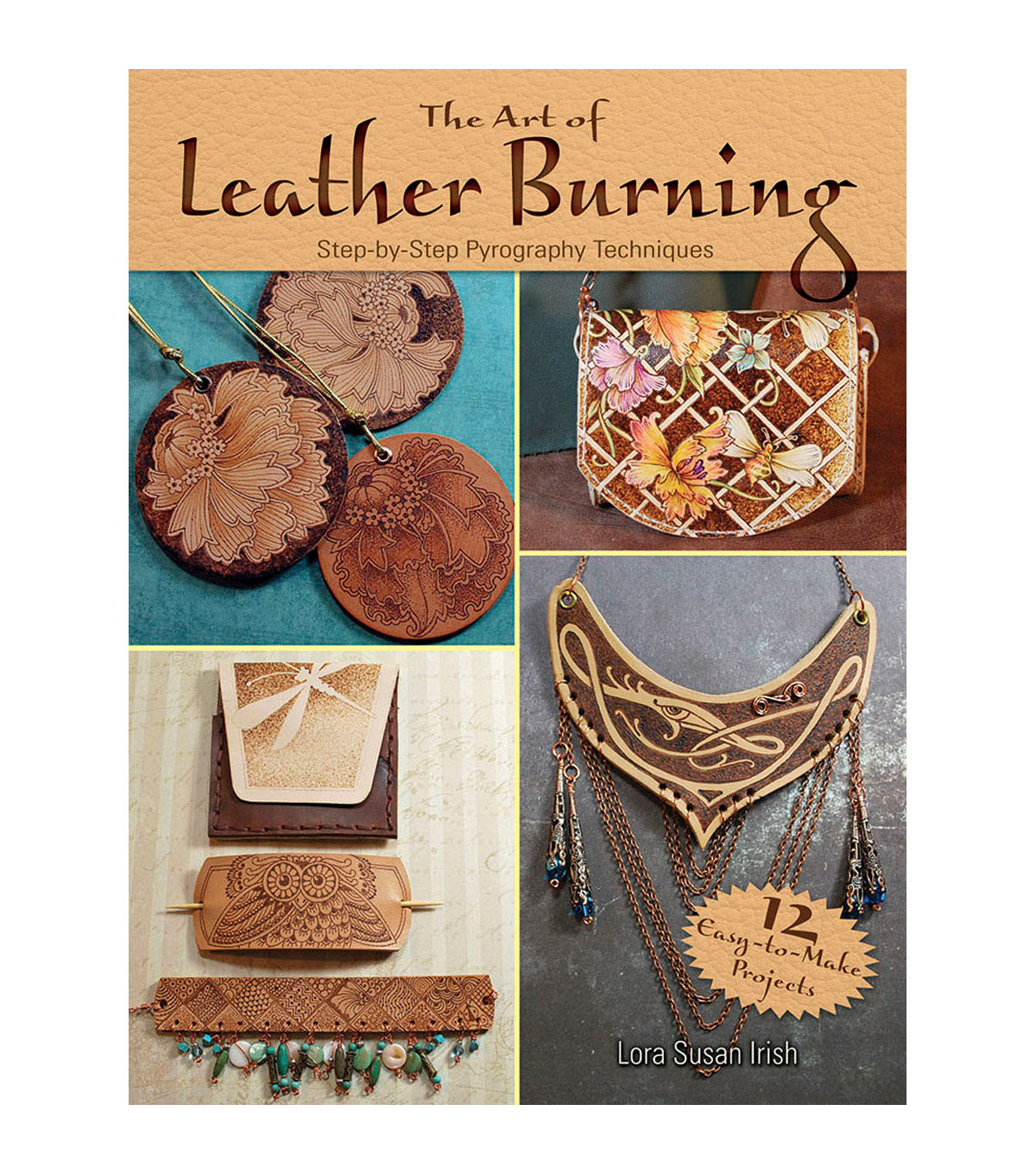 Dover Publications The Art of Leather Burning Book