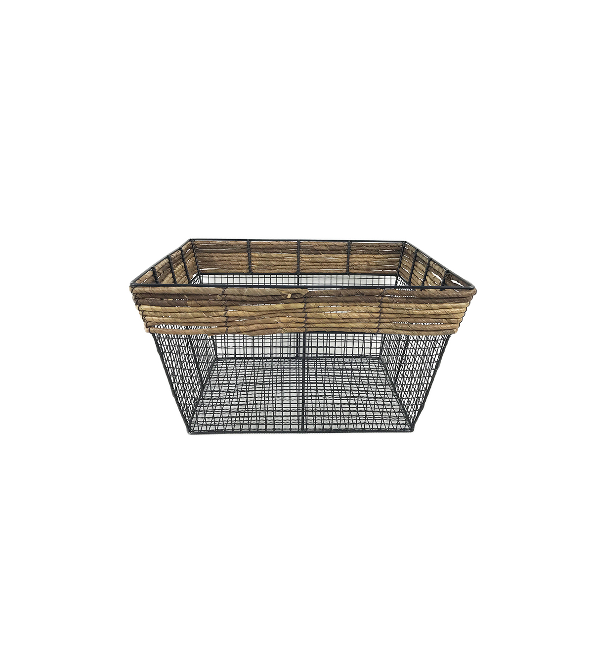 Large Square Basket with Metal Wire