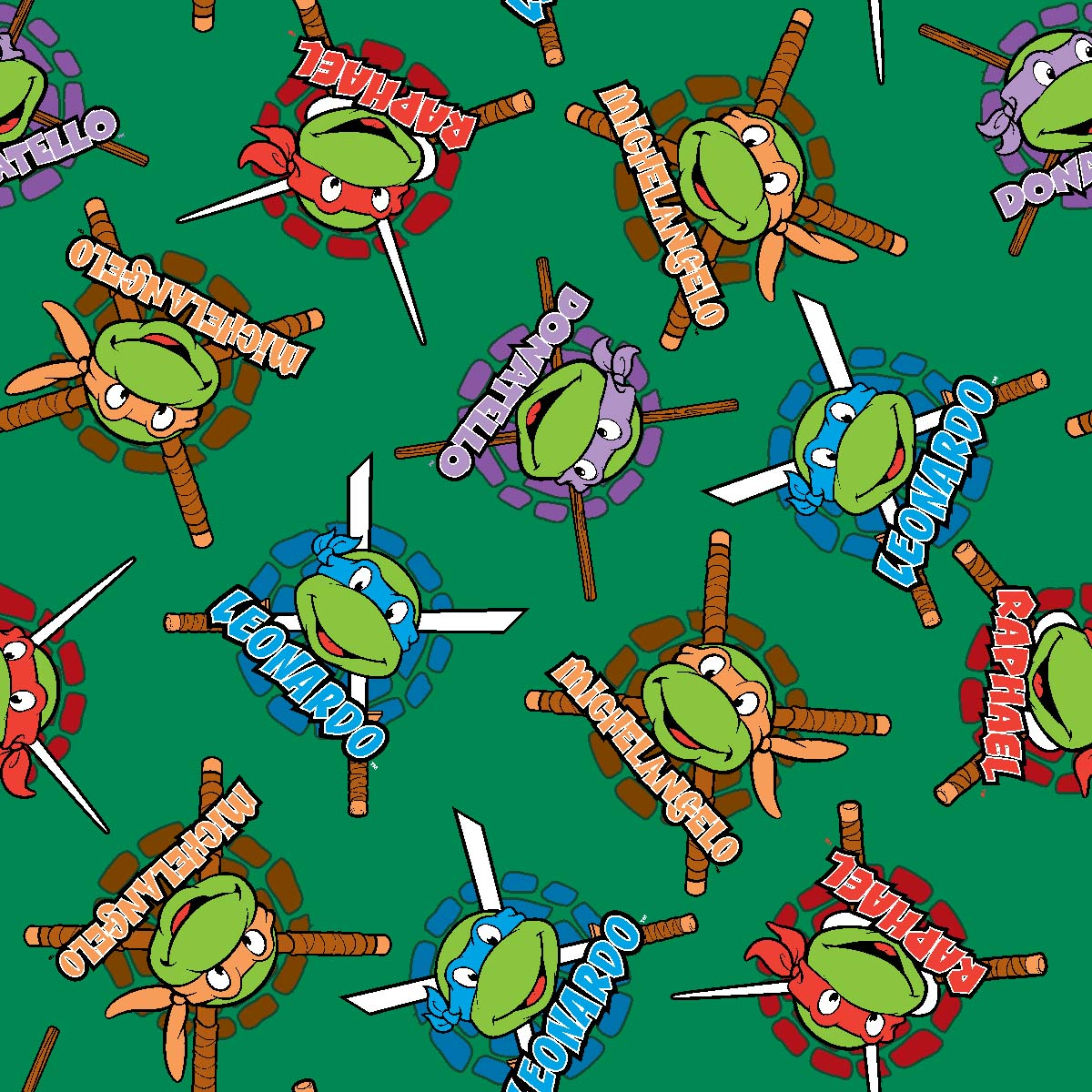 Licensed Fleece Fabric- Teenage Mutant Ninja Turtles Retro | JOANN