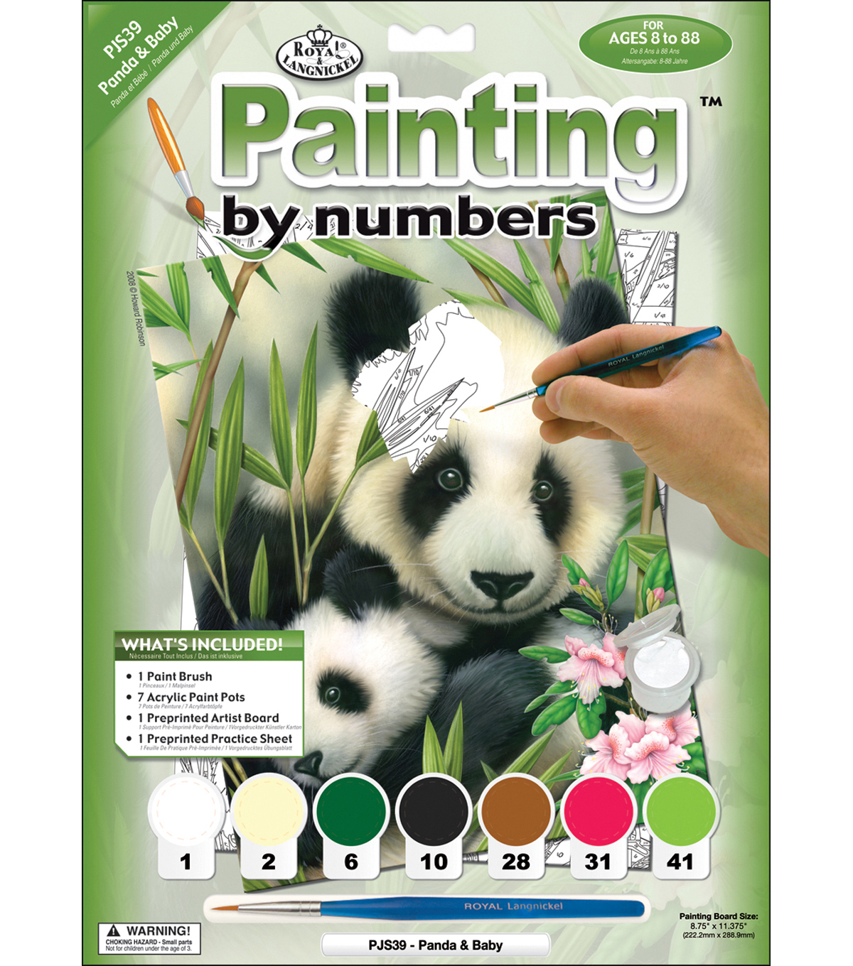 Royal Langnickel Junior Paint By Number Kit Panda & Baby