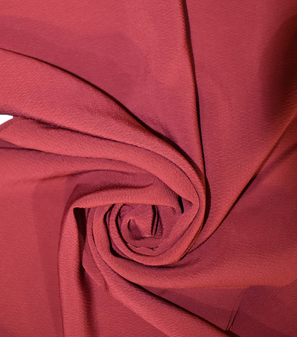 Silky Solids Textured Polyester Crepe Fabric-Solids, Pomegranate