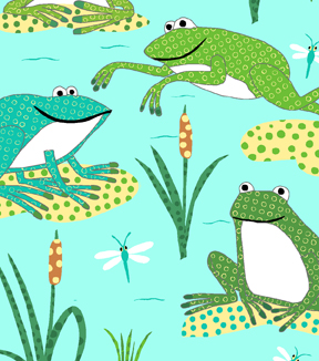 Anti-Pill Fleece Fabric 58\u0022-Dotted Froggies