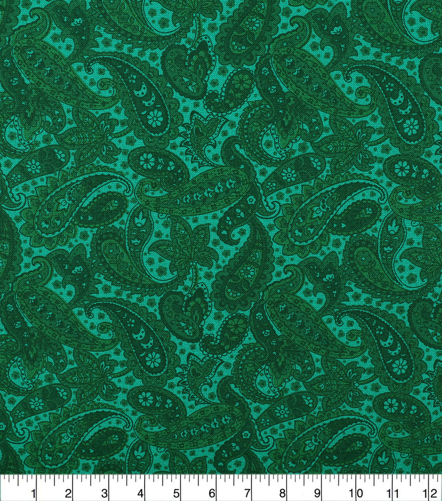 Wide Quilt Cotton Backing Fabric 108\u0022-Amazon Paisley