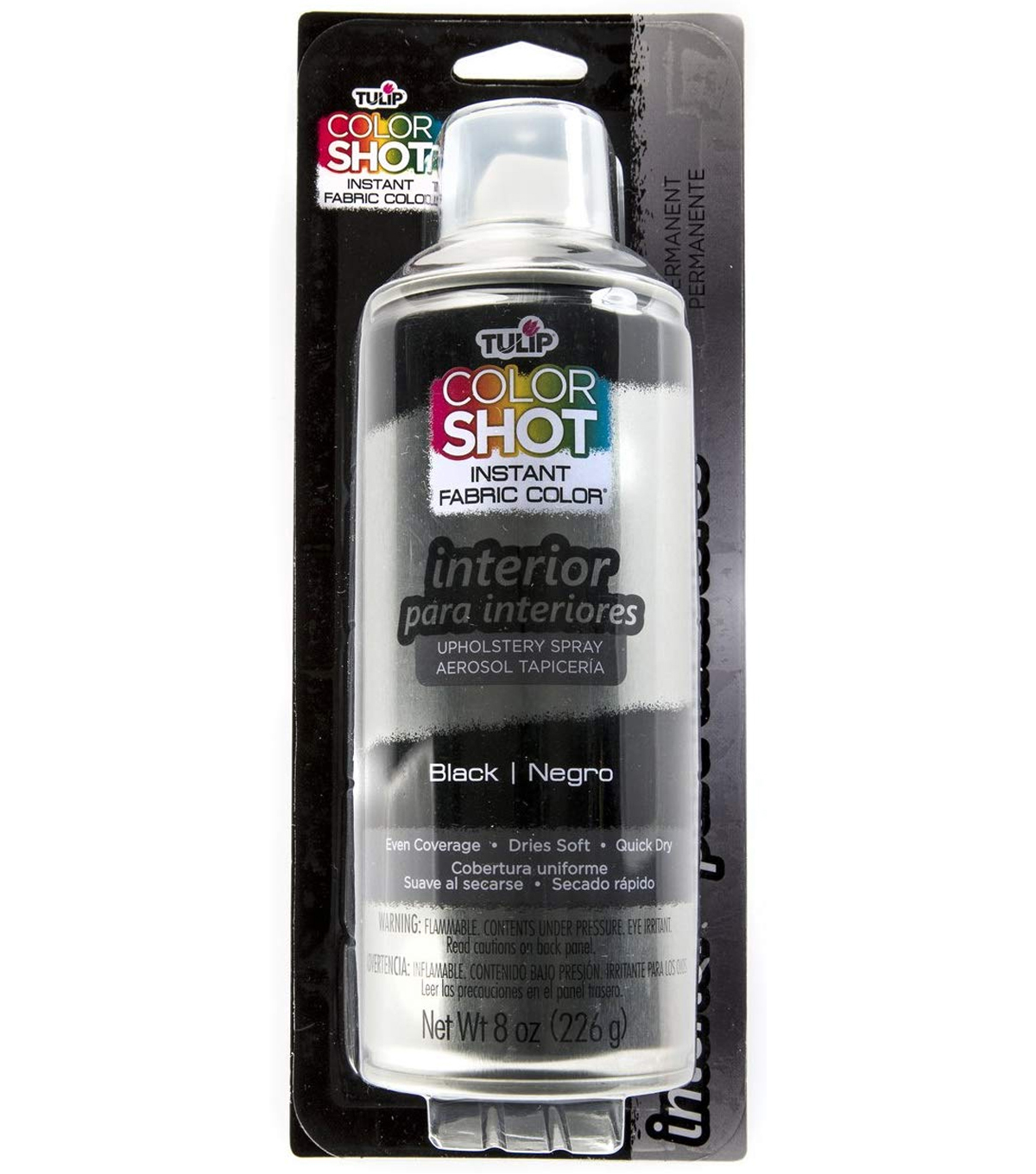 Tulip ColorShot 8oz Indoor Upholstery Spray, Black