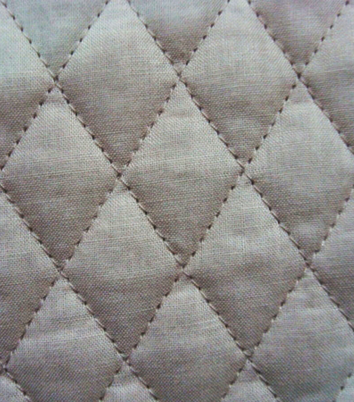 Double Faced Pre-Quilted Cotton Fabric -Diamond Solids, Tan