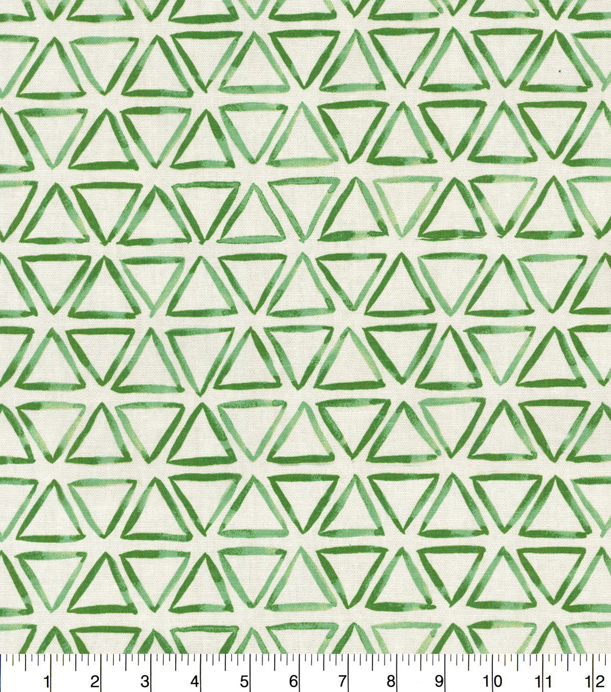 Waverly Upholstery Fabric 54\u0022-Verte Painted Triangles