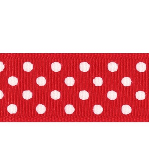 Offray Grosgrain Confetti Dot 7/8\u0027\u0027-10 Yards