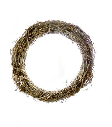 Blooming Holiday 18\u0027\u0027 Twig Wreath-Brown