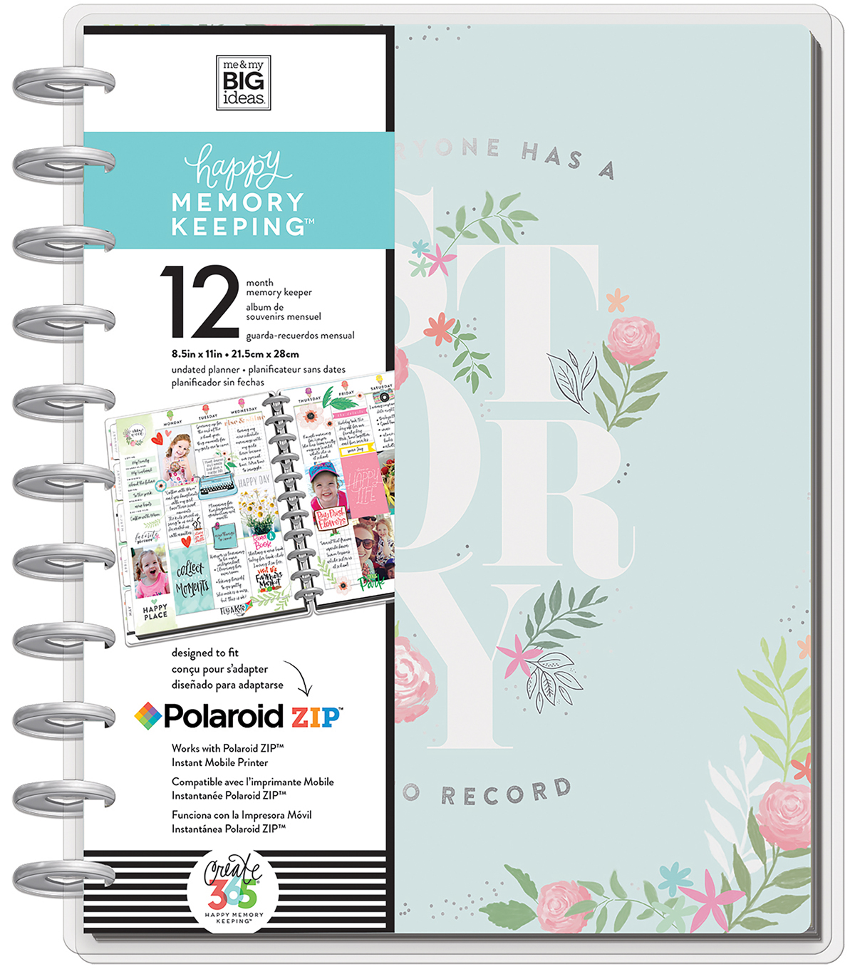 Happy Memory Keeping My Story Undated 12-Month Big Planner