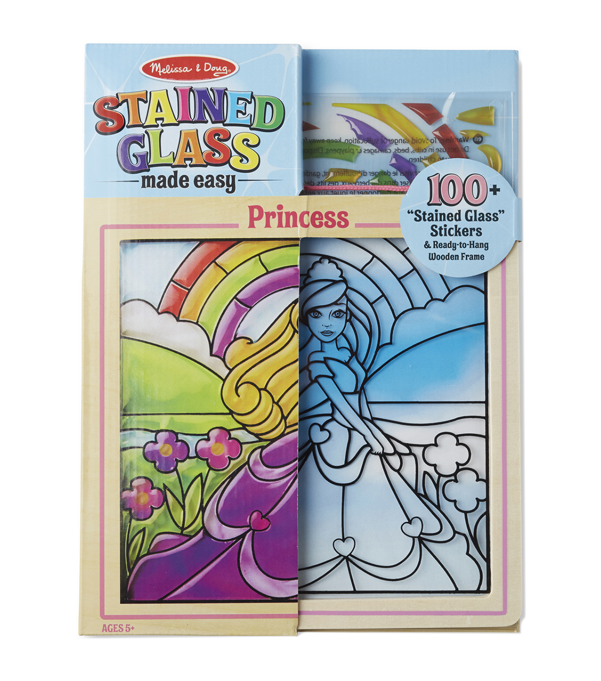 Melissa & Doug Stained Glass Made Easy Activity Kit-Princess