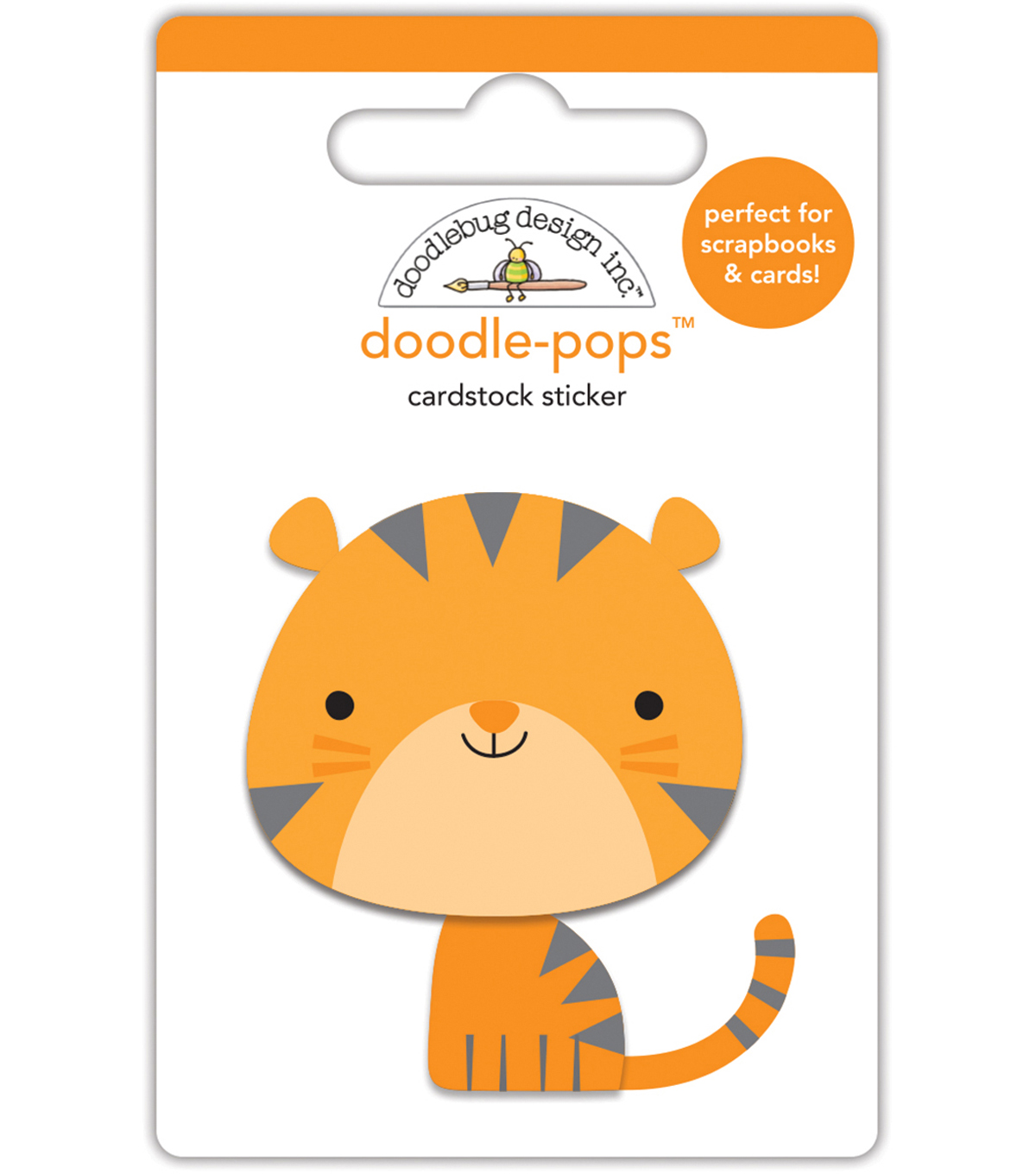 Doodlebug Doodle-Pops 3D Stickers -At The Zoo Tommy Tiger