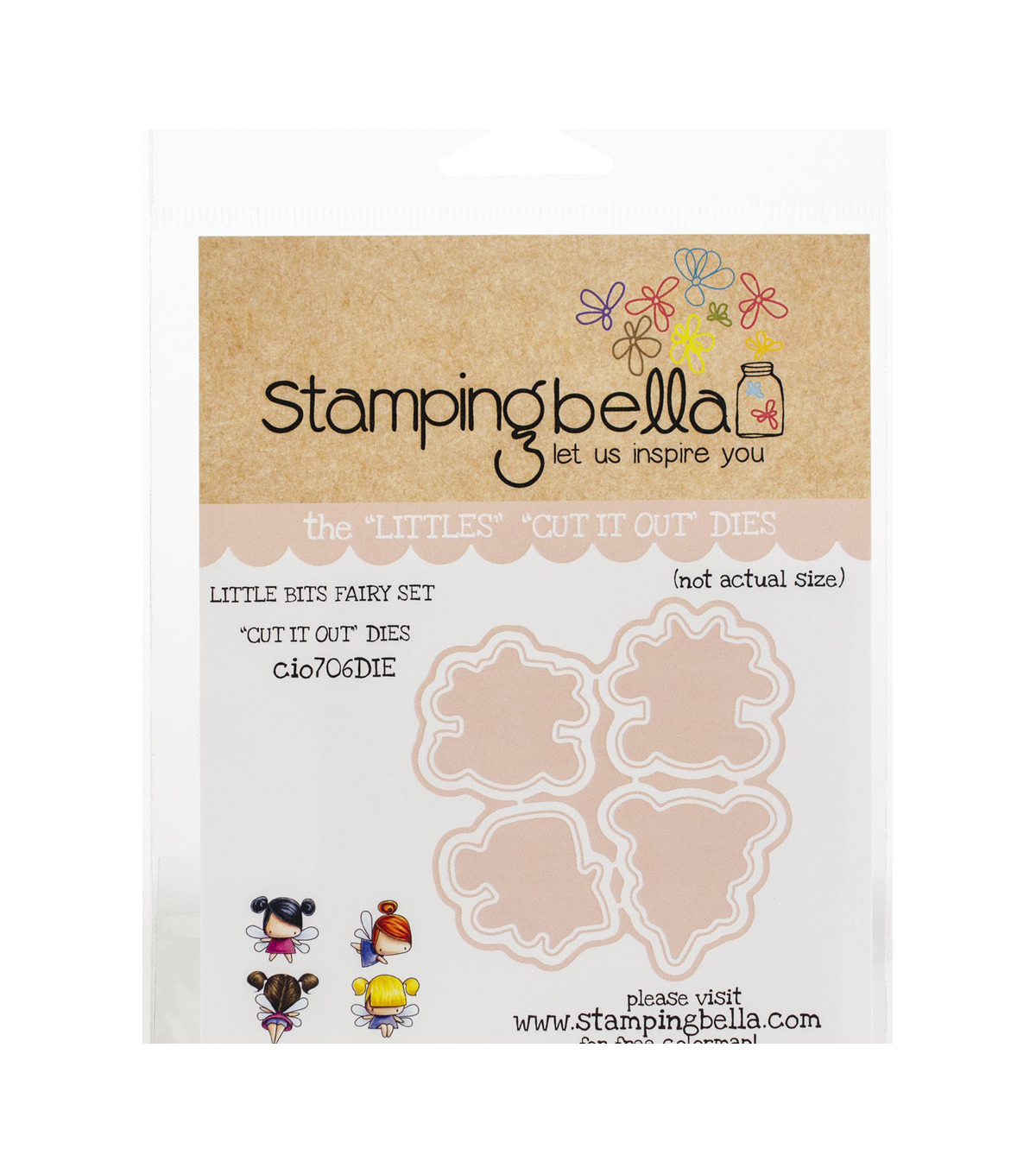 Stamping Bella 4 pk Cut it Out Dies-Little Bits Fairy