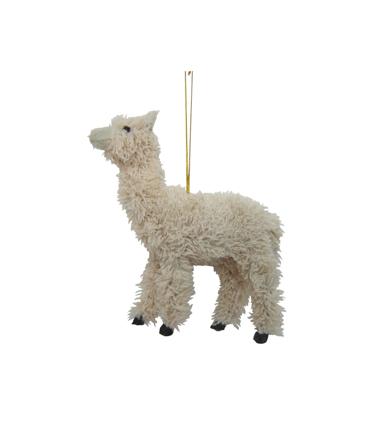 Maker\u0027s Holiday Christmas Furry Llama Ornament
