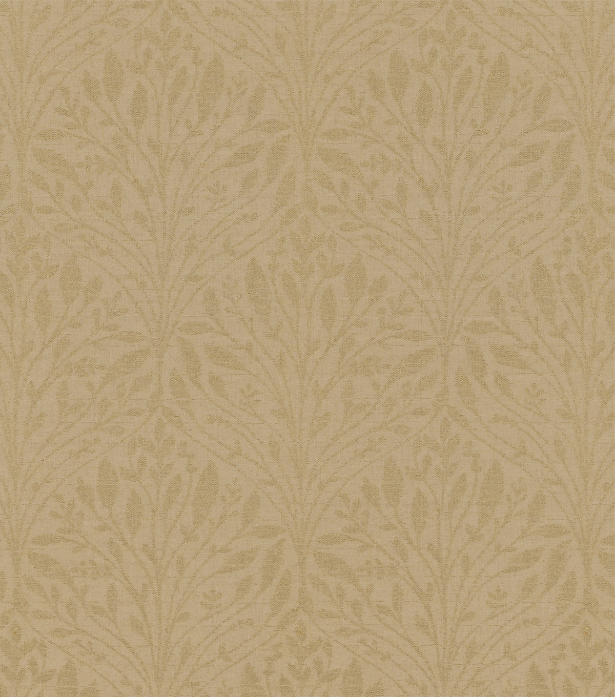 Covington Multi-Purpose Decor Fabric Swatch-Shimmer Softly Vintage Gold