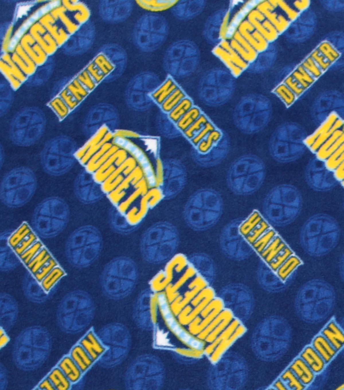 Denver Nuggets Fleece Fabric -Logo Toss  14966043a